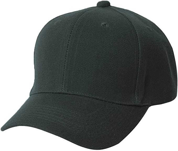 BLACK /& WHITE FITTED SIZE 6 3//4  BASEBALL CAPS HAT HATS