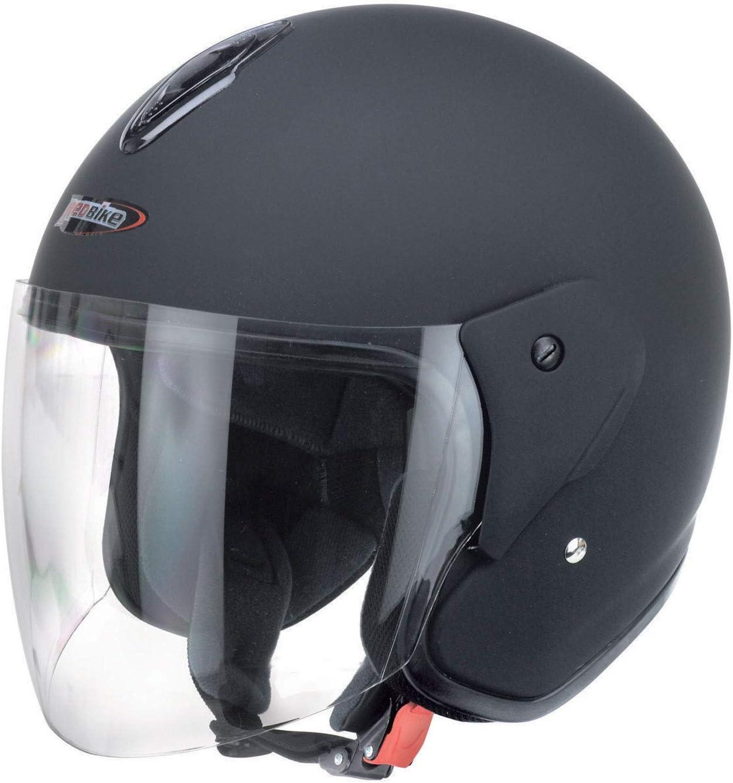 Redbike Helm RB-915 Motorradhelm Rollerhelm Sturzhelm Helm matt-schwarz L