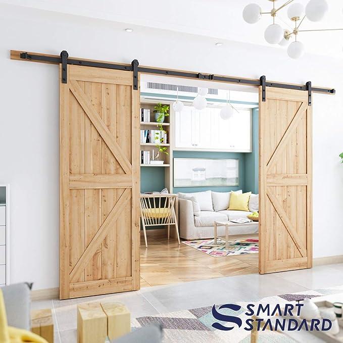 SMARTSTANDARD - Perchas para puerta corredera en forma de I (negro): Amazon.es: Bricolaje y herramientas