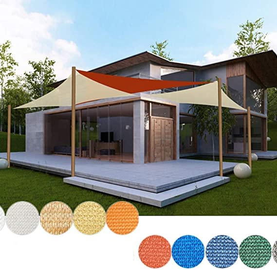 QINGJIU toldos Exterior Triángulo 3 x 3 x 3 m Rojo Vino UV Impermeable toldo Parasol terraza Exterior toldo de jardín: Amazon.es: Hogar