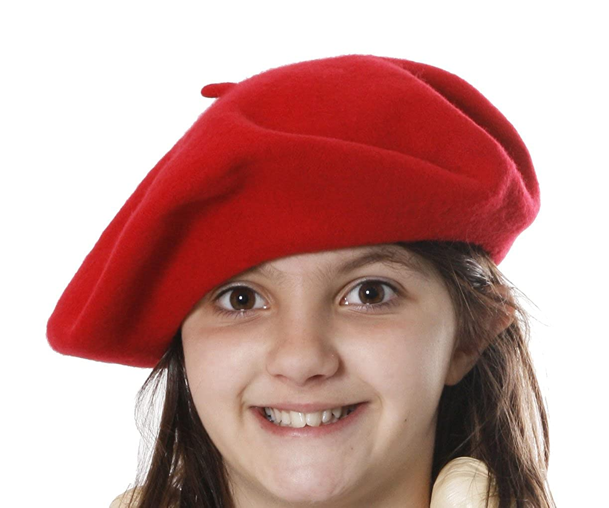 French Style Beret available in Black,Red,Beige or Pink (Red)
