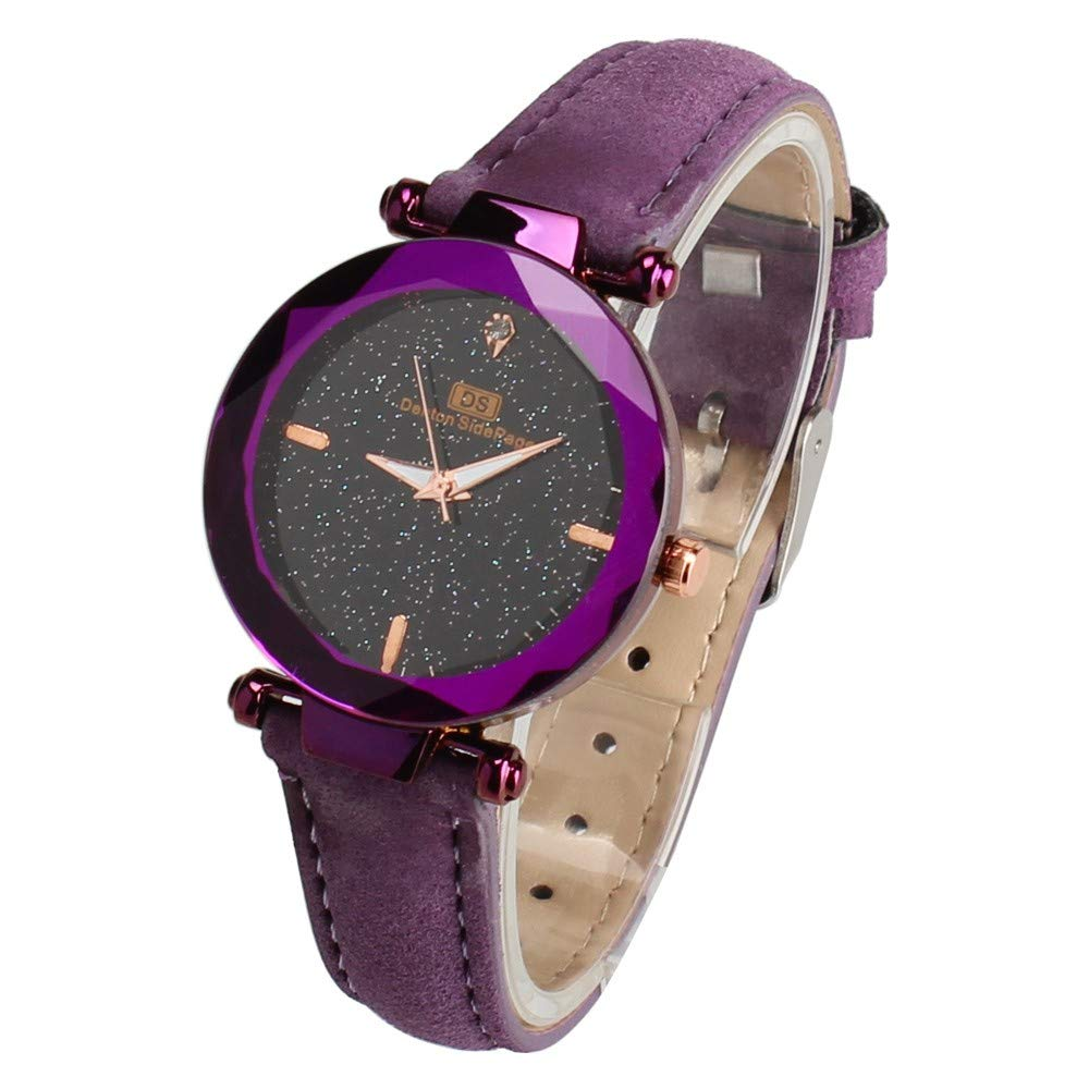Clearance! Paymenow Woman Wrist Watches Fashion Crystals Analog Quartz Watches Casual Wristwatch for Ladies (Purple)