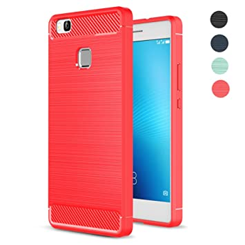 Amytech Fundass Carcasa Huawei P9 Lite, 1.5 MM Grueso Gel Silicona Non-Slip Anti-Fingerprint Anti-Scratch Fundass Carcasa Case para Huawei P9 Lite