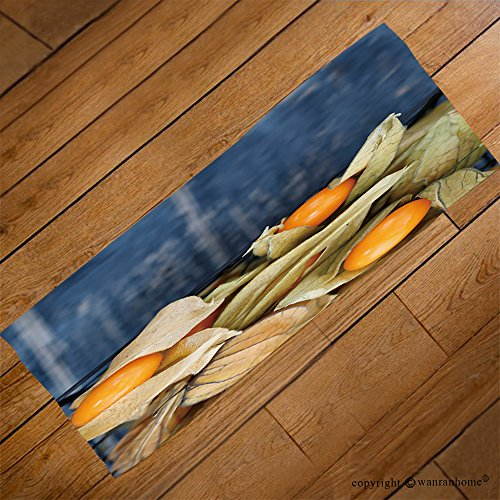 VROSELV Custom Towel Soft and Comfortable Beach Towel-Top view on the physalis fruit in a black basket_ Design Hand Towel Bath Towels For Home Outdoor Travel Use 23.6