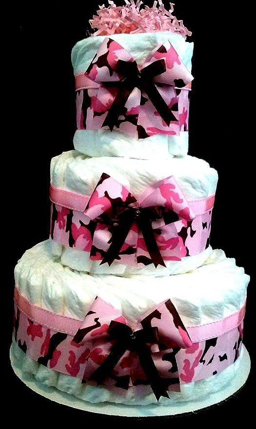 Amazon.com: Camuflaje, Color Rosa Pastel de pañales por ...