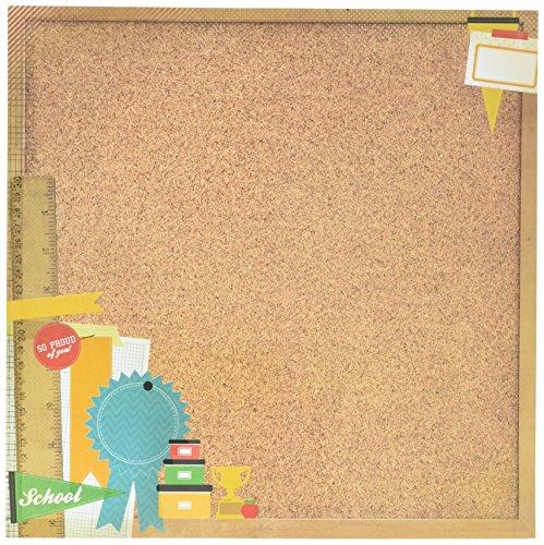 """Class Act Spot Varnish Paper 12""""X12""""-Corkboard  10  per pack"""