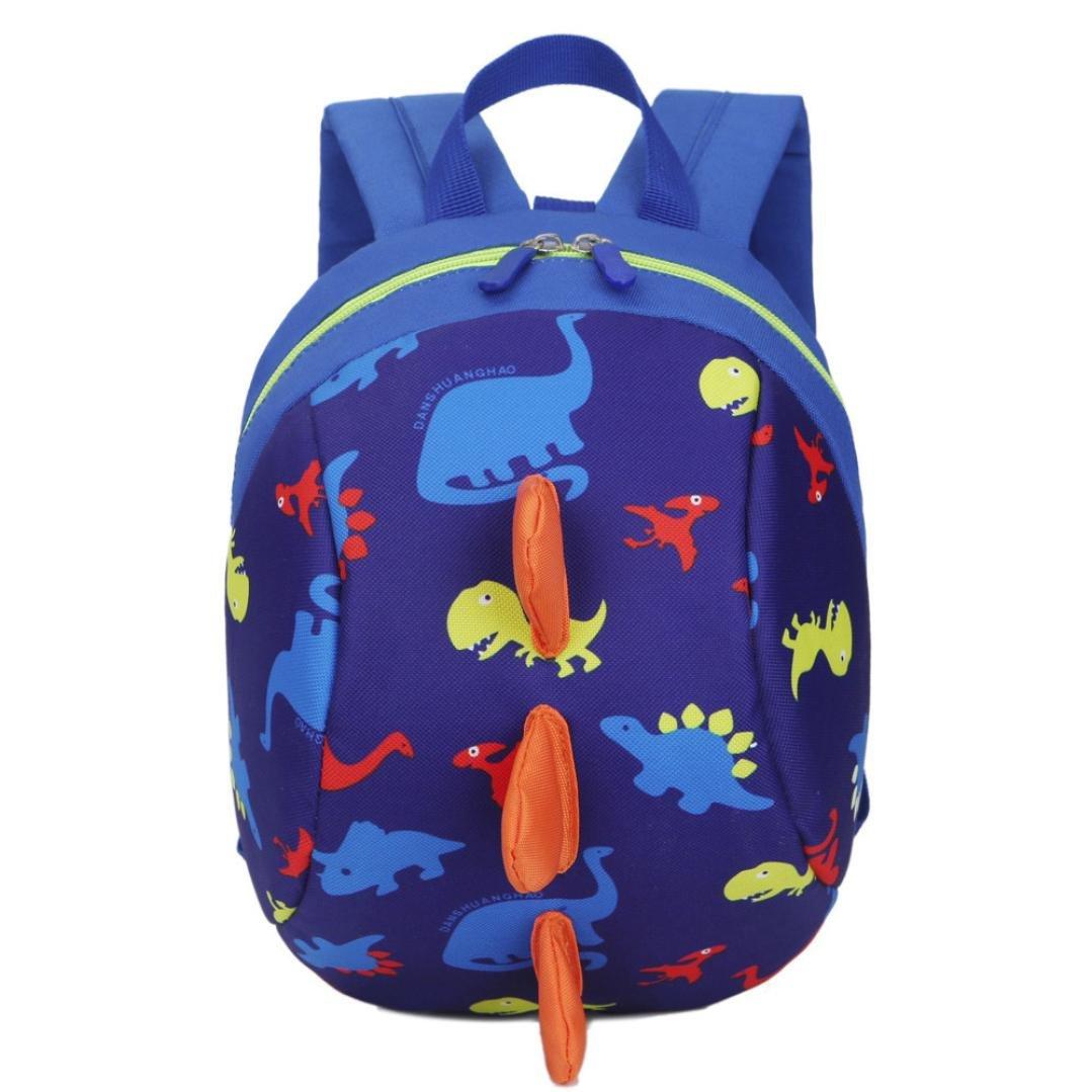Bolso, Manadlian Niños niñas Mochila de animales Patrón de dinosaurio Bolsa para la escuela (20cm(L)/26cm(H)/12cm(W), Azul oscuro): Amazon.es: Hogar