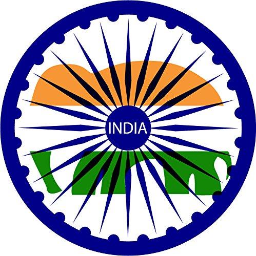 India Flag Ornament Home Decal Vinyl Sticker 12'' X 12''