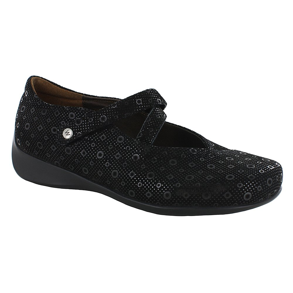 Wolky Comfort Mary Janes Silky B01C370T4Y Medium / 41 M EU / 9.5-10 B(M) US|Black Pattern