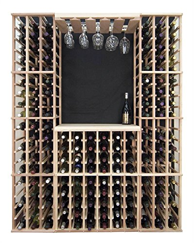 Wine Rack Table Top Bar Surface (Redwood with Dark Stain) by Wine Cellar Innovations