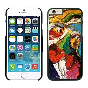Awesome Iphone 6 Plus Case 5.5 Inches, Art Abstract Painting Black Hard Shell Back Cover Case for Apple Iphone 6 Plus
