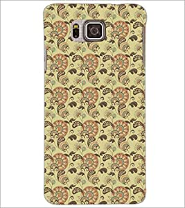 PrintDhaba Pattern D-5210 Back Case Cover for SAMSUNG GALAXY ALPHA (Multi-Coloured)