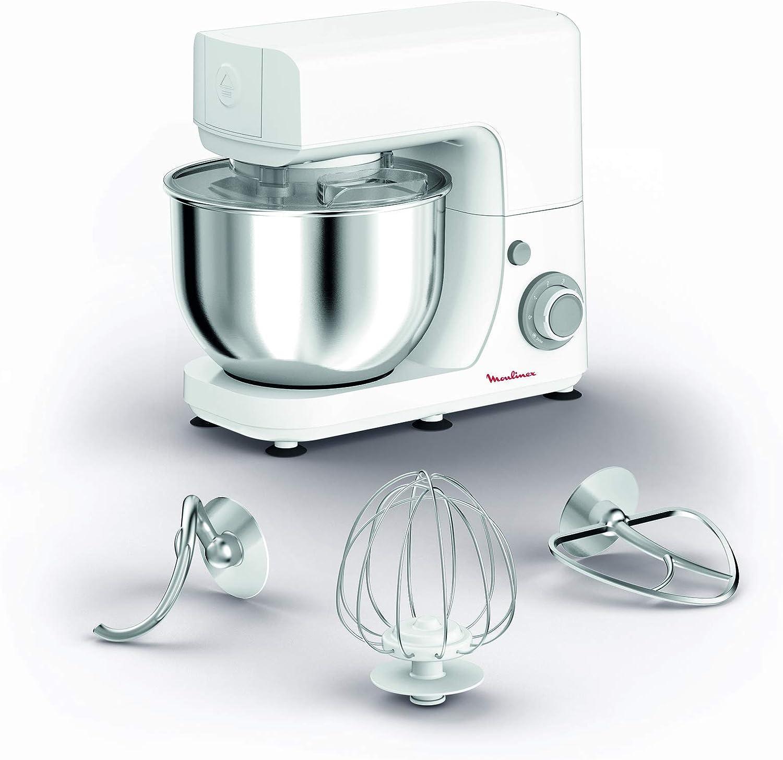 ماكينة مطبخ مولينكس ماستر شيف 4.8 لتر، ابيض وفضي، ستانلس ستيل – (QA150127)