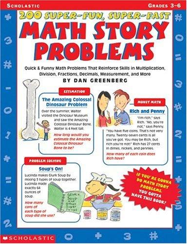 Amazon.com: 200 Super-Fun, Super-Fast Math Story Problems Math ...