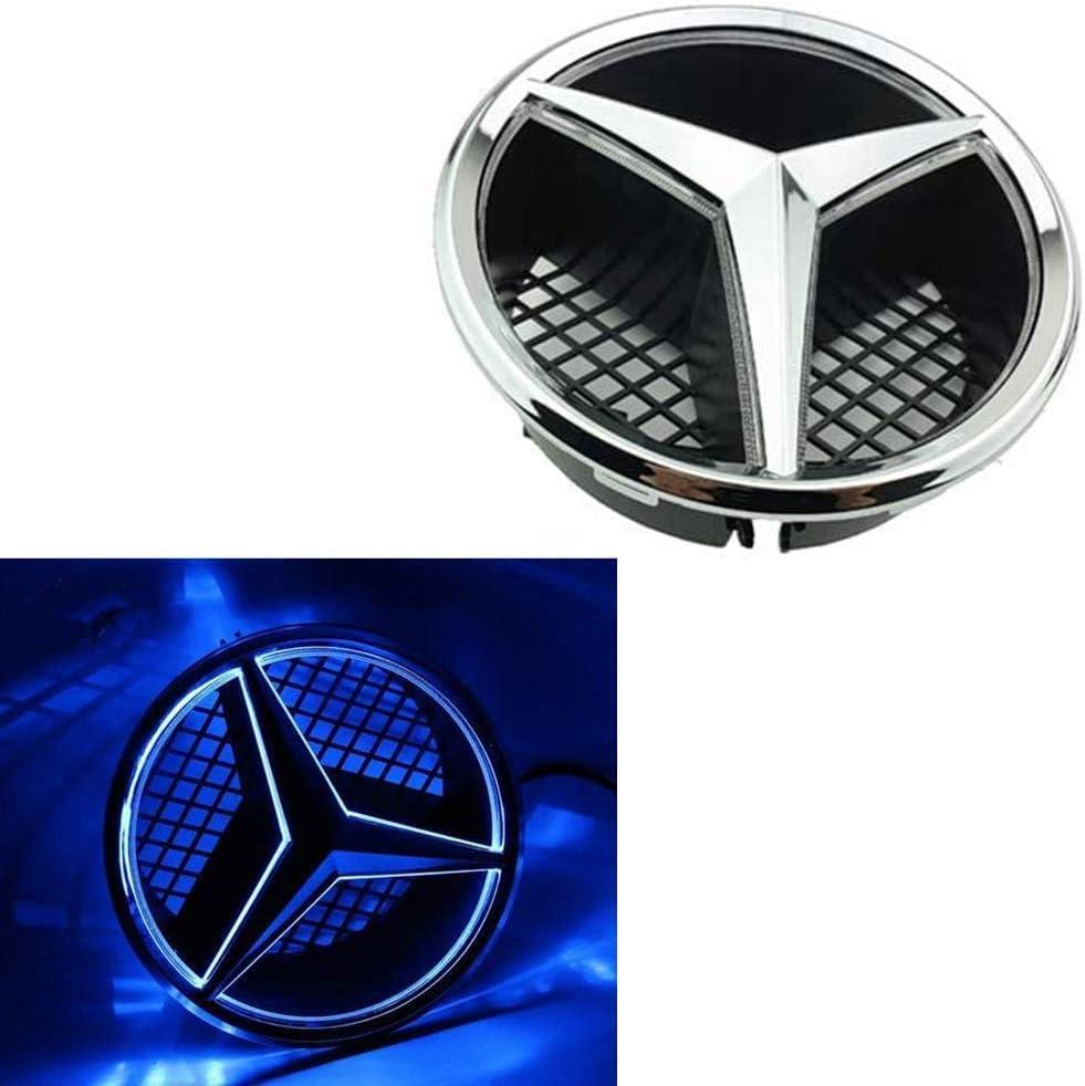 Logo LED Grilled Avant Car Star Emblem Illuminated pour Mercedes Benz C//GLK//B Classe Et Plus Centre Avant Badge Lampe,Red Light