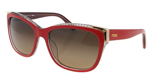 Fendi - Gafas de Sol - para Mujer Rojo Oscuro: Amazon.es ...