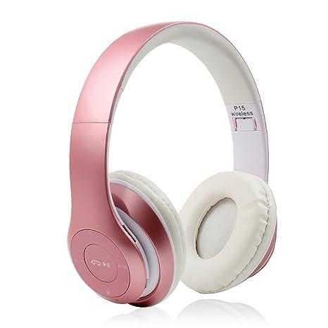 Auriculares Inalámbricos Bluetooth, SUAVER Auriculares Diadema Casco Bluetooth Inalámbrico con Micrófono Casco Plegable Headphone Estéreo