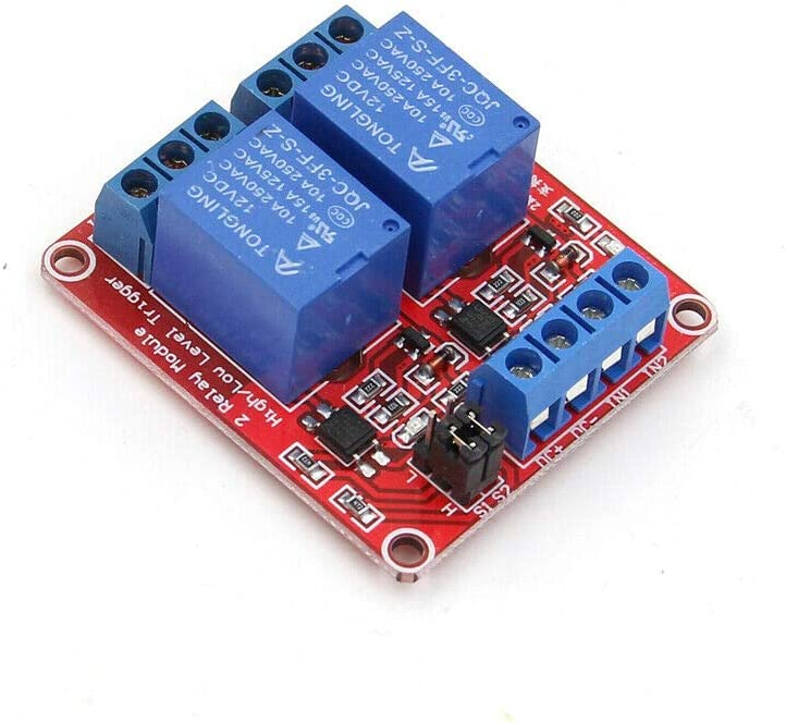 2Pcs 1 Channel 5V Relay Module Board Shield with Opto and High//Low Level Trigger