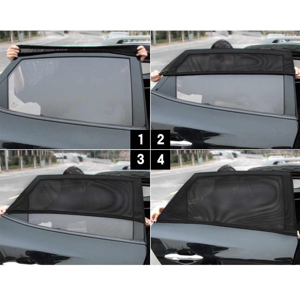 SUV Pack de 2 SmartSpec Sun Shade Sox Universal Fit Baby Rear Large Car Side Window Sun Shades Travel for Coche