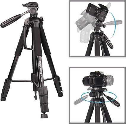"Portatile Monopiede Treppiede Fotocamera 70/""//177cm 3-Way Pan Testa Girevole DSLR Camera Bag"