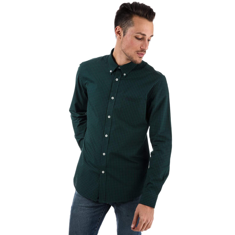 Ben Sherman - Camisa Casual - para Hombre Verde S: Amazon.es: Ropa ...