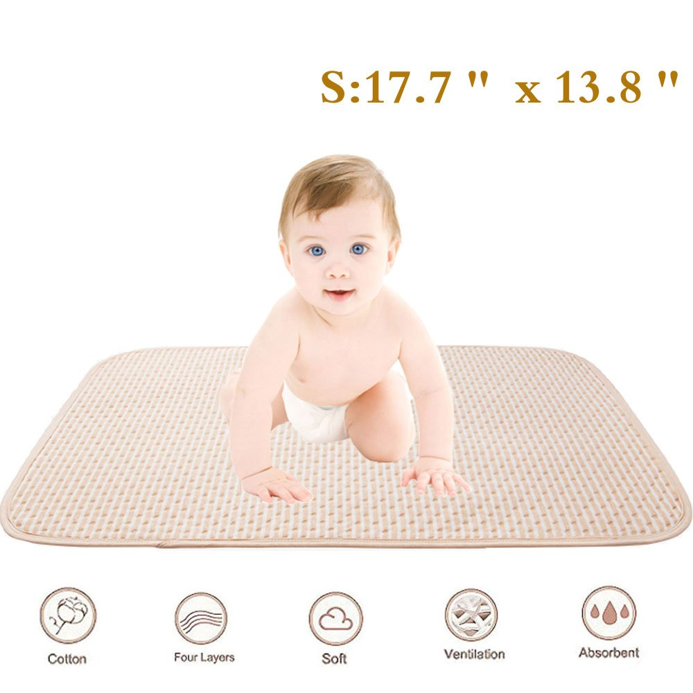 Incontinence Bed Pad - Waterproof Mattress and Sheet Soaker Protector,Washable Bedwetting,Ultra Absorbent Barrier for Toddler Baby Children Adults (Small) Yikun