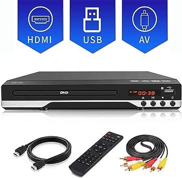 Reproductor de DVD, Home TV DVD/SVCD/CD, con Control Remoto, Puerto USB, para el Juego de la película de Lectura móvil Reproductor de Discos para niños,720P: Amazon.es: Deportes y aire libre