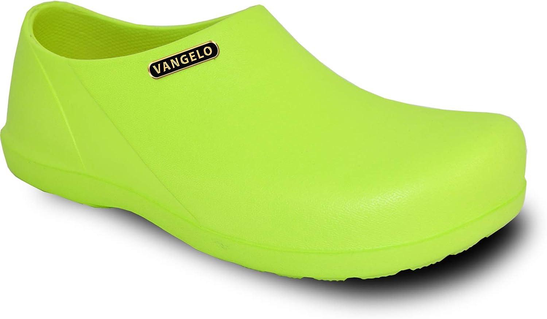 vangelo Professional Slip Resistant Clog Women Work Shoe Nurse Shoe Chef Shoe Carlisle Black White Lime