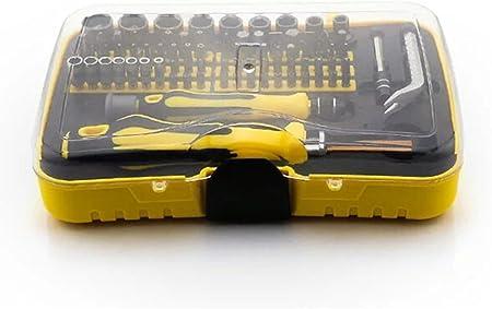 Joyeee 70 Pezzo Mini Famiglia Strumento Mano Set di Cacciavite di Precisione Kit di Riparazione con la Scatola di Plastica di Stoccaggio Ideale per Uso Domestico e Riparazione auto