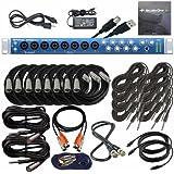 PreSonus AudioBox 1818VSL USB Recording Interface with S/PDIF, BNC, MIDI XLR, TRS Cables
