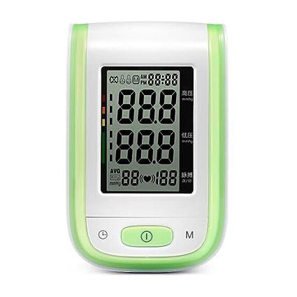 zww Tensiómetro para brazo presión arterial y pulso con gran pantalla LCD y ajustable manguito,