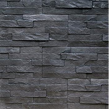 sample of stone veneer rock valley charcoal - Exterior Stone Veneer