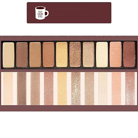 Susens Fashion eyeshadow palette 10 Colors Matte Eyeshadow naked palette Glitter Eye shadow Make-Up Nude Makeup set