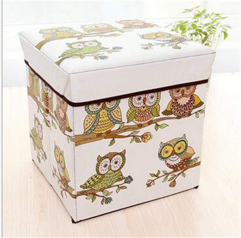 VADOLY Foldable Leather Box Can Sit Storage Bins for Underwear Bra Books Kid Toys Organizer Shoes Stool Shoe Taburete