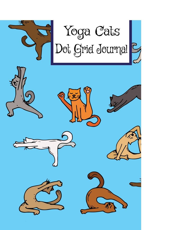 Amazon.com: Yoga Cats - Dot Grid Journal: Cool Blue Dot Grid ...