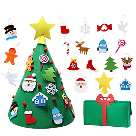 Amazon Com N T Nieting 3d Diy Felt Christmas Tree Upgraded Toddler