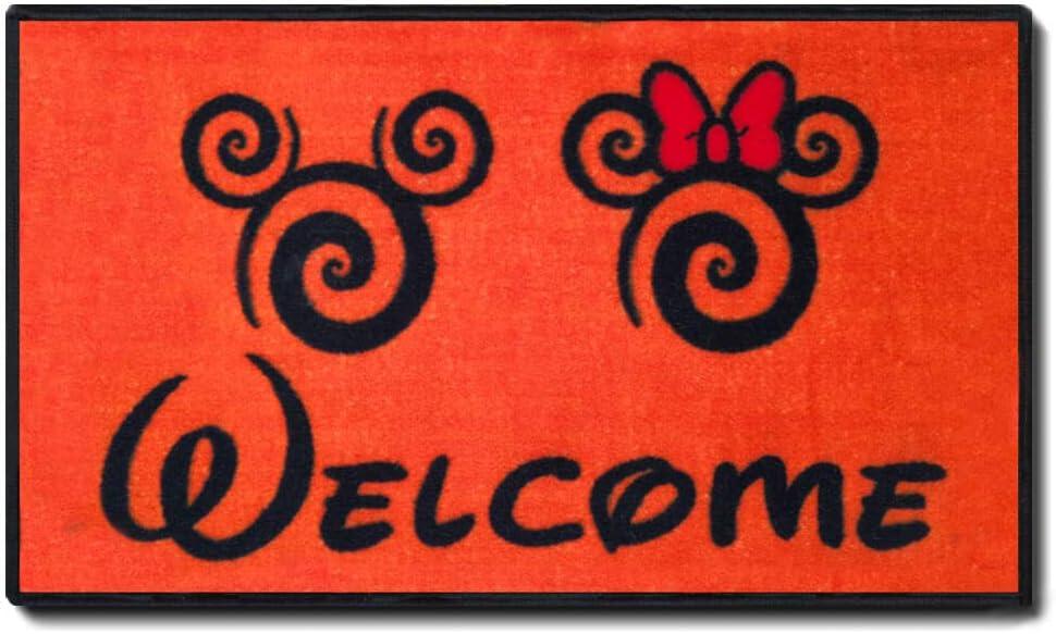 "J.Ehonace Mickey Minnie Mouse Rugs - Bathroom Rug, Indoor Outdoor Entrance Rug, Kitchen Rug, 17"" x 30"" (Welcome)"
