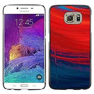 For Samsung Galaxy S6 - Redhead Rainy Deep Meaning Art /Modelo de la piel protectora de la cubierta del caso/ - Super Marley Shop -