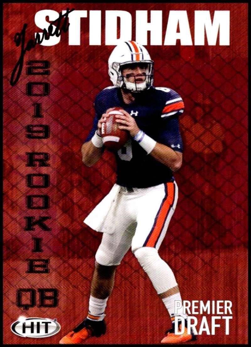 Amazon Com 2019 Sage Hit Premier Draft 47 Jarrett Stidham Auburn Football Card Collectibles Fine Art
