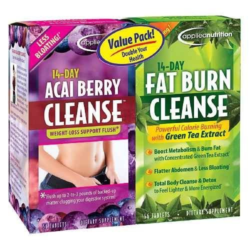 Applied Nutrition 14-Day Acai Berry Cleanse + 14-Day Fat Burn Cleanse, Value Pack, Tablets--56 ea-Product ID DRU-216882_1 by Applied Nutrition (Applied Nutrition 14 Day Fat Burn Cleanse)