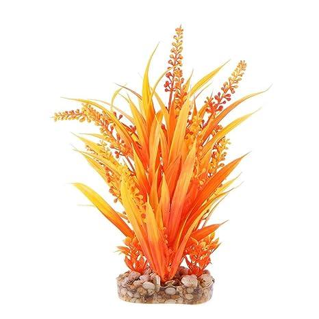 Gowind6 Plantas de plástico para Acuario, decoración de césped para pecera