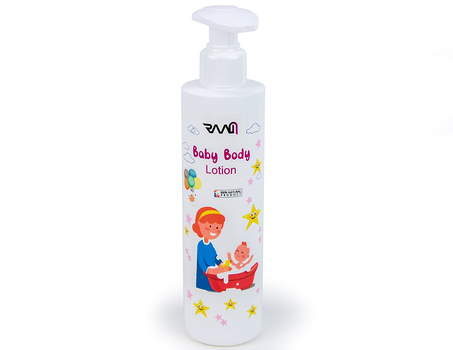 RAAM Baby Moisturizing Lotion - Lab Tested and Certified For Normal, Dry or Sensitive Skin, 100% Natural Product - 250 ml