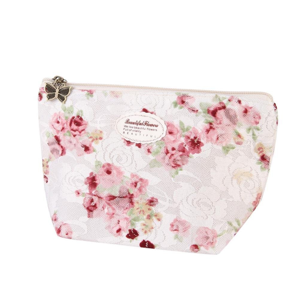 Covermason Multifunctional Portable Makeup Pouch Travel Cosmetic/Storage/Toiletry Bag Pencil Case F (White)