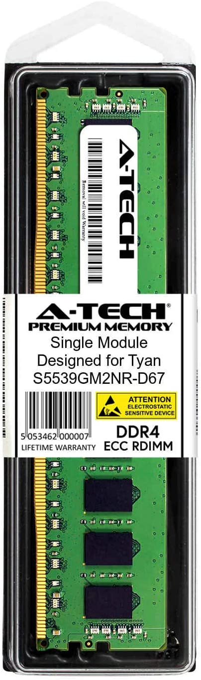 2 x 8GB for Tyan S5539GM2NR-D67 AT361893SRV-X2R2 A-Tech 16GB Kit DDR4 PC4-21300 2666Mhz ECC Registered RDIMM 2rx8 Server Memory Ram