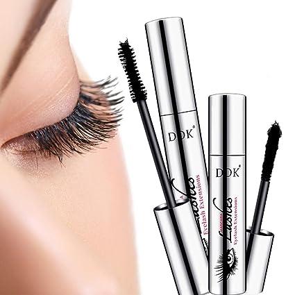 KOBWA 4D - Mascara de maquillaje, pestañas de maquillaje, máscara de pestañas negras,