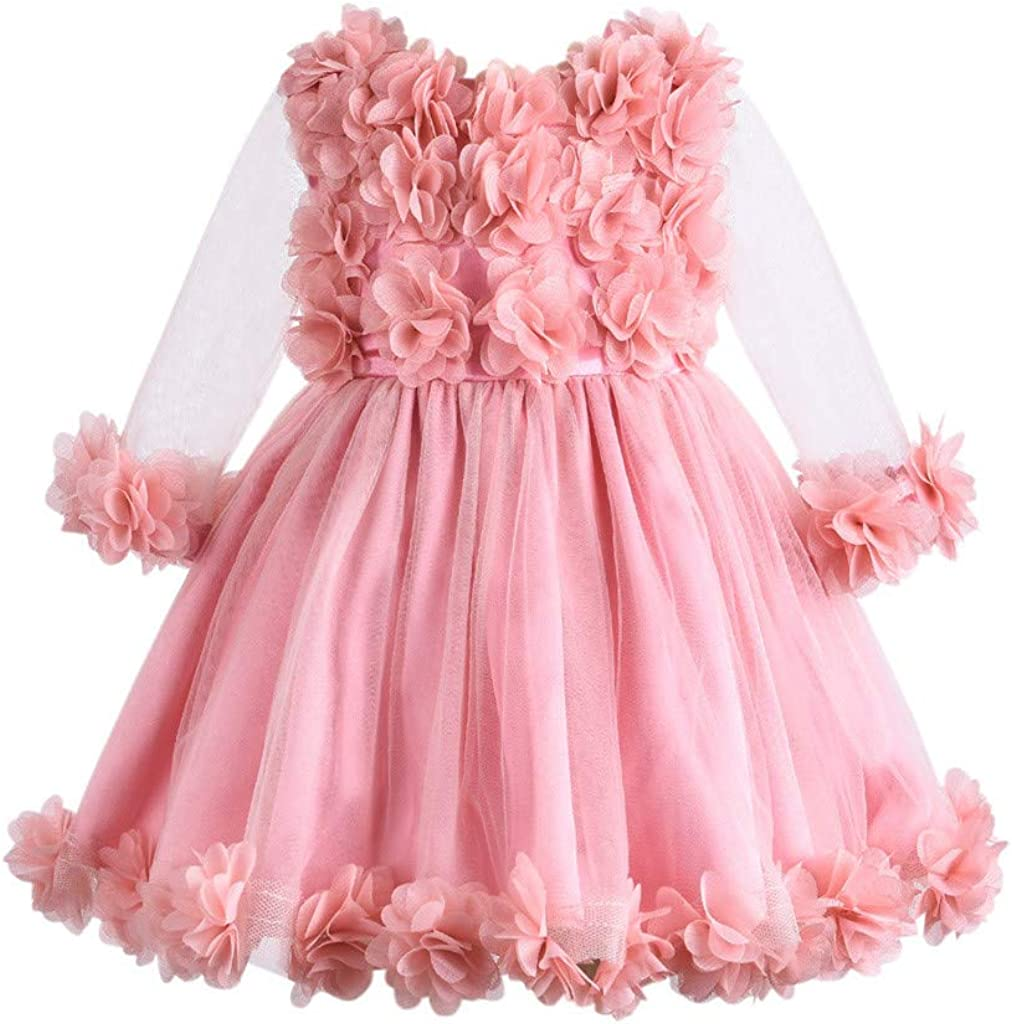Digood Toddler Baby Kids Girls Bowknot Christening Pageant Gown Birthday Party Tutu Dress