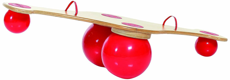 TOGU Kinderwippe Balanza, Rot Mit Holzplatte, 440500