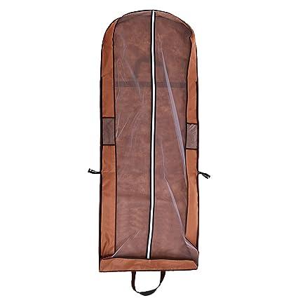 a398b892bb0 Cubierta de Ropa, Transpirable Bolsa de Trajes Larga para Vestidos de Novia  o de Fiesta