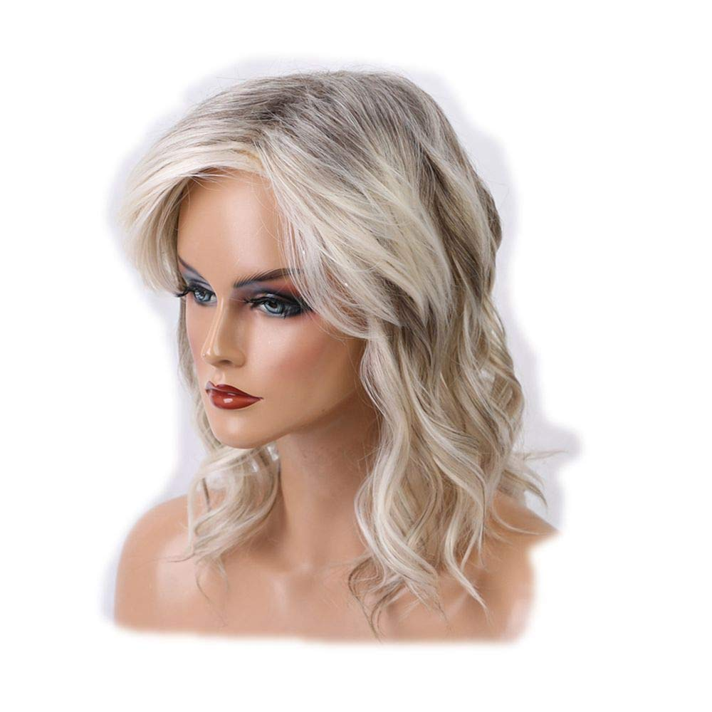 100% Unprocessed Real human Hair&Rose Net Hair Wig, Mixed Colour Long Curly Wigs Real Human Hair Sexy Women Wigs
