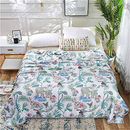 (TTXST High-Grade Latex Quilt Summer Cool Modal Summer Quilt Single Double Air Conditioner Ice Silk Quilt Lunch Break Blanket 200cm230cm,B)